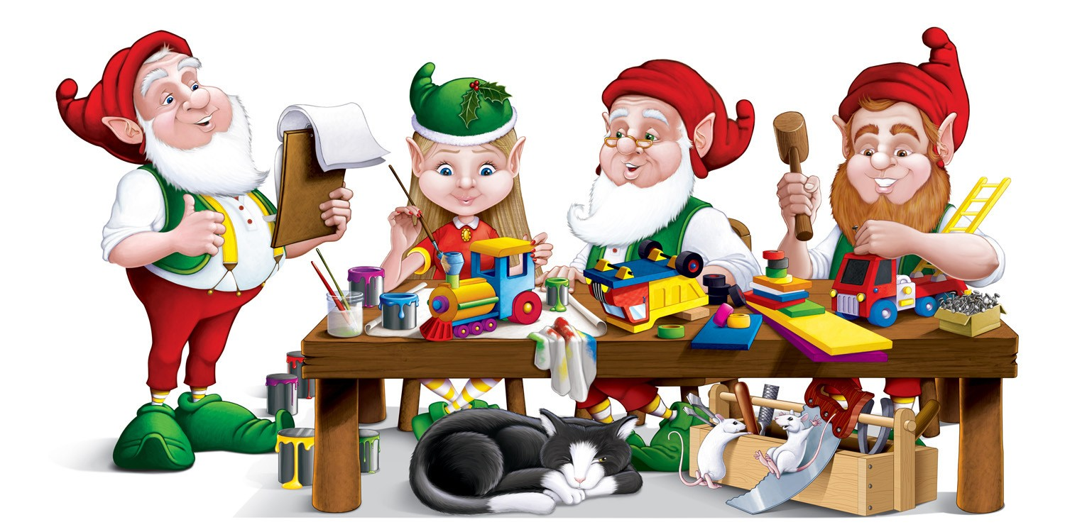 Elf clipart workshop. Alterpedia christmas elves jeremyvarner