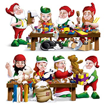 Elf clipart workshop. Amazon com santa s