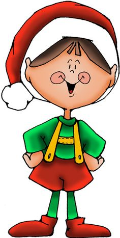Elf clipart writing. Santa and elves at