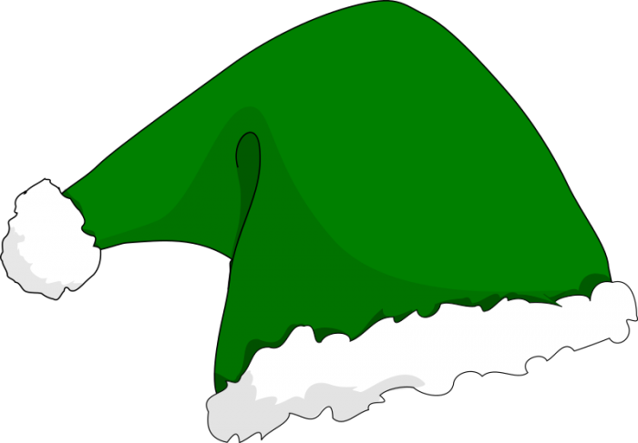 Elf hat png. Christmas vector clipart psd