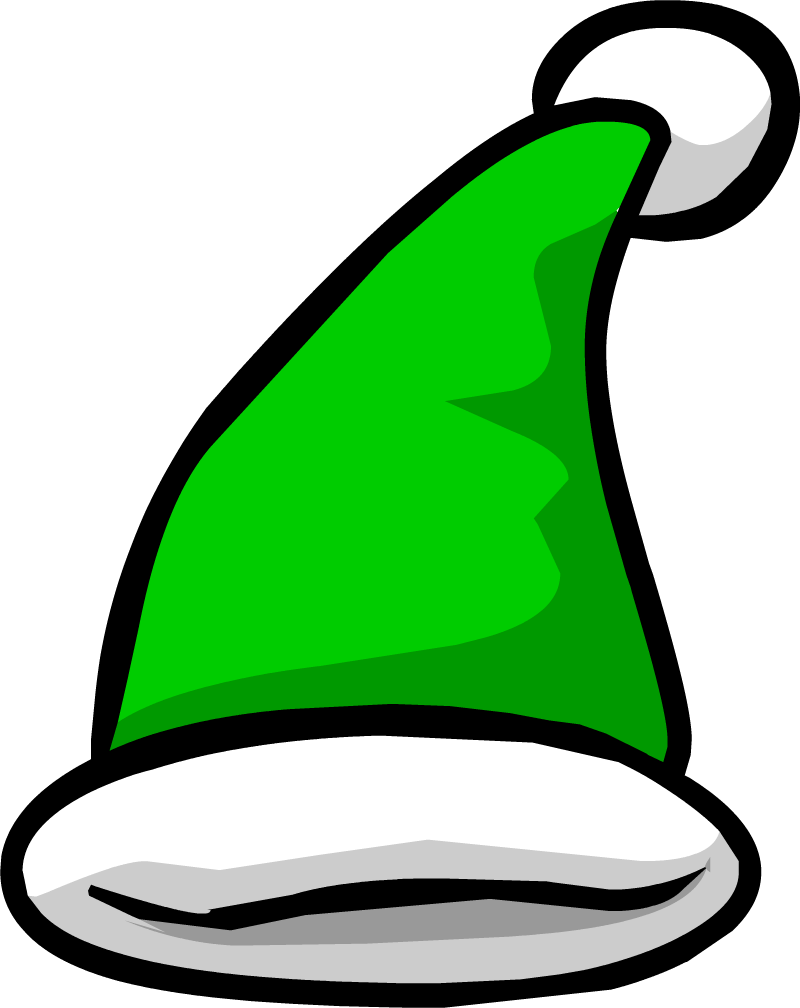 Green santa hat png. Image elf clothing icon