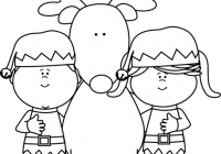 Elf png black and white. Clipart elves with a