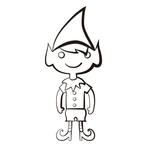 Elf png black and white. Transparent images stroke icon