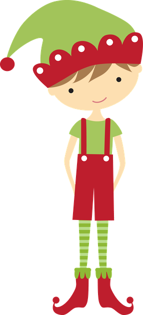 Elf clipart peeking. Christmas boy clip art