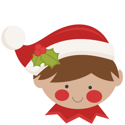 Elf clipart peeking. Christmas svg scrapbook cut