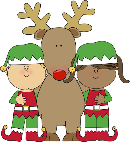 Elf transparent reindeer. Elves with clipart