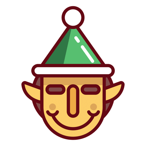 Elf transparent svg. Christmas face png vector