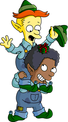 Elf transparent worker. Elves the simpsons tapped