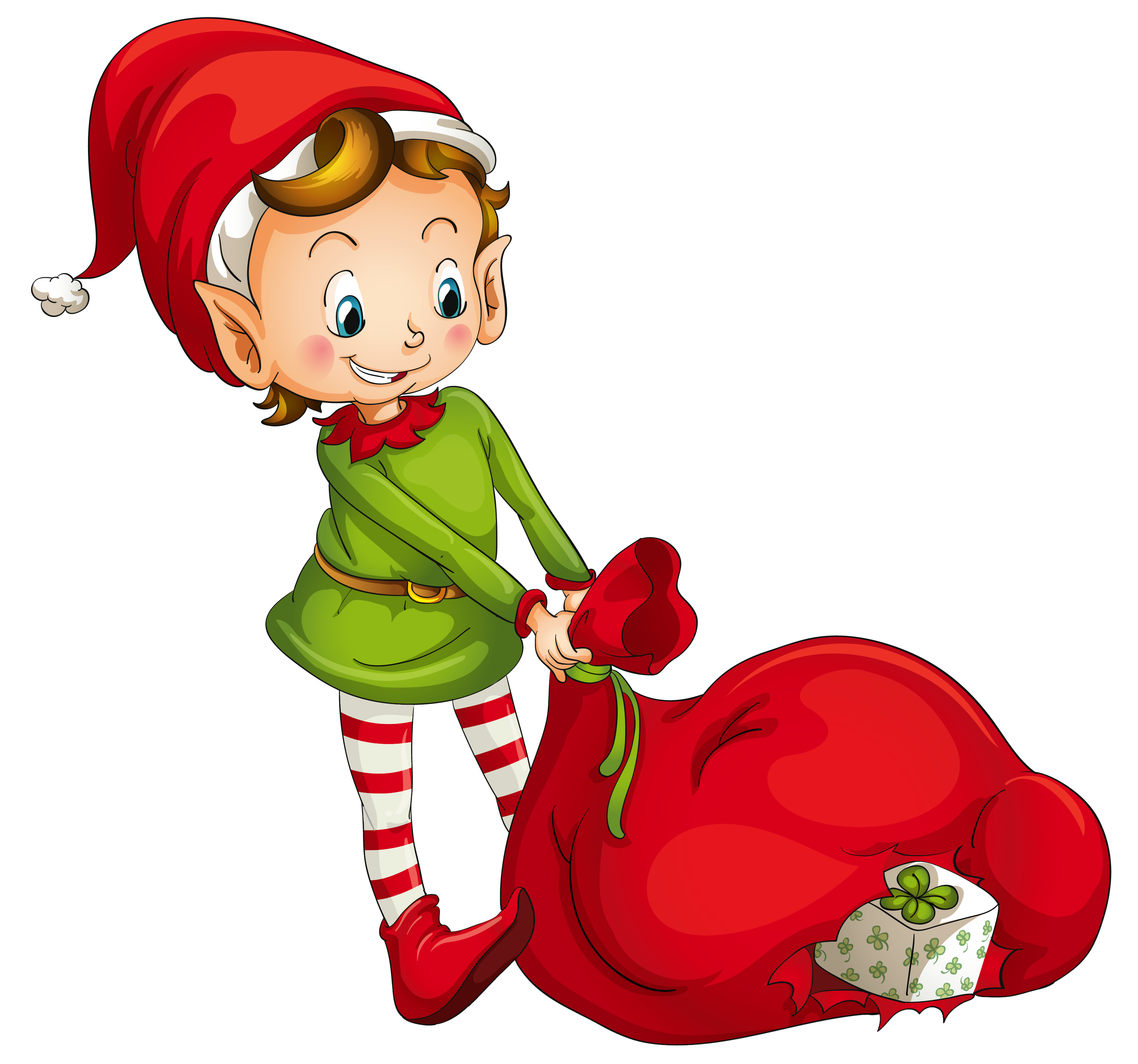 Elf transparent xmas. Christmas clip library