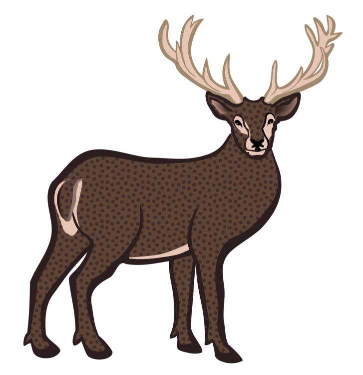 Elk clipart. Reindeer white tailed deer