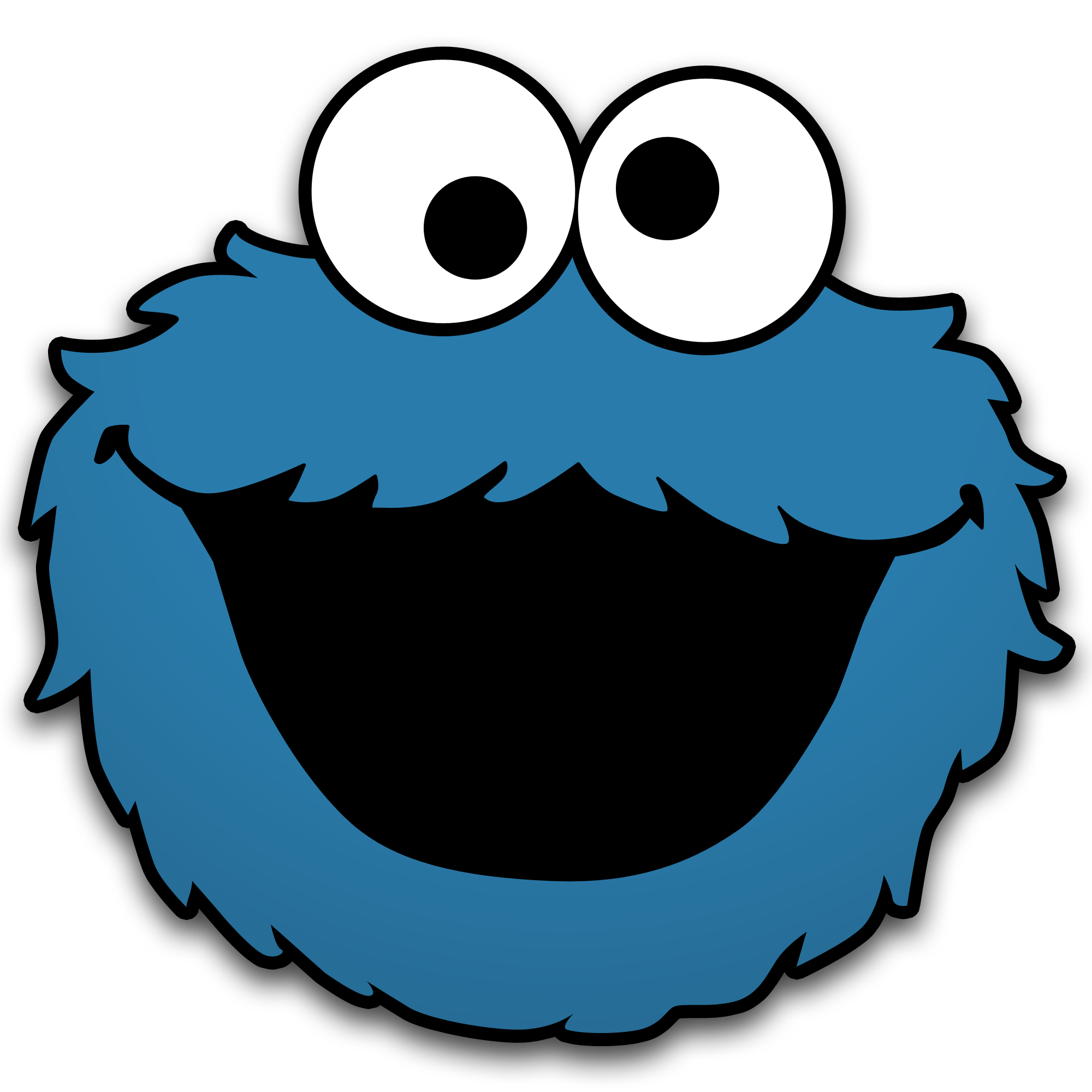 Elmo face png. Cookie monster by neorame