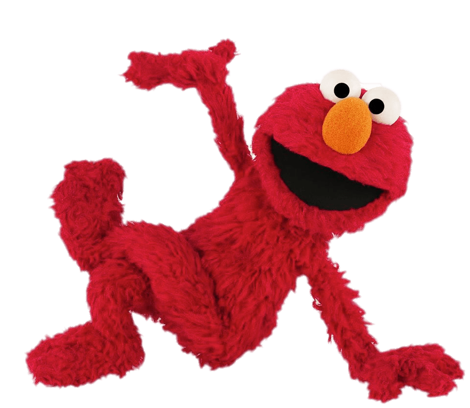 Elmo png. Sesame street sitting transparent