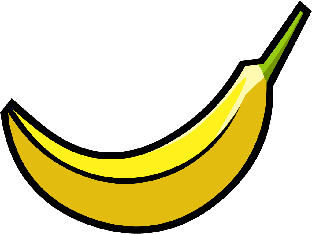 Elongated banana. Png image free picture