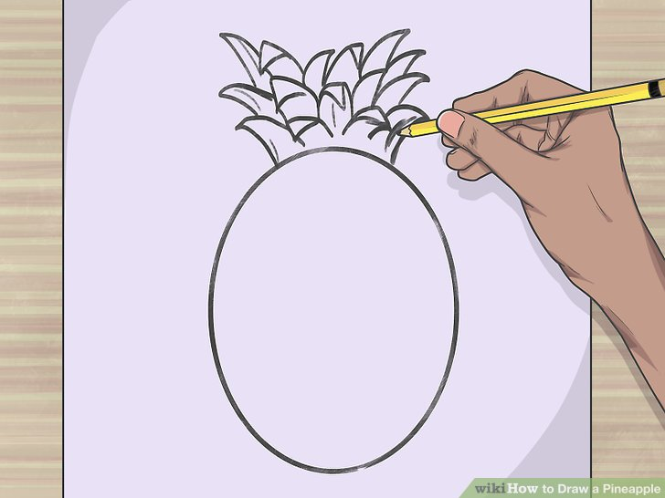 Elongated pineapple. How to draw a