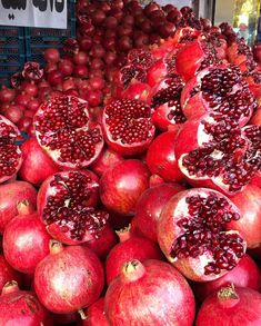 Elongated pomegranate. Fruits to die for