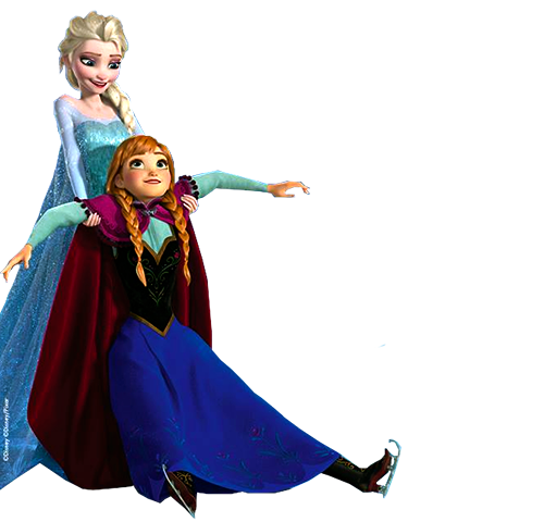 Elsa and anna png. Image holding disney wiki
