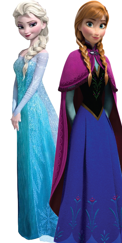 Elsa and anna png. Image as the parody