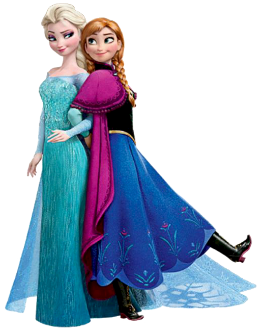 ana and elsa png