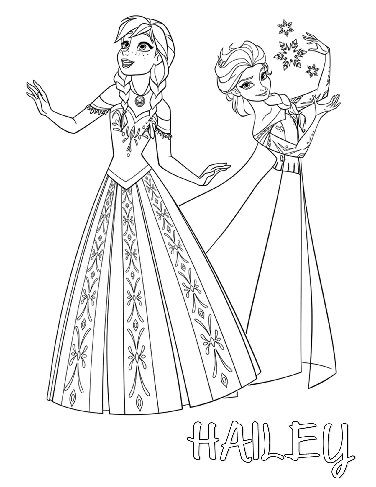 Elsa clipart anna template. Frozen and color your
