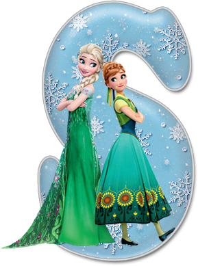 Elsa clipart birthday decoration. Alfabeto de frozen fever