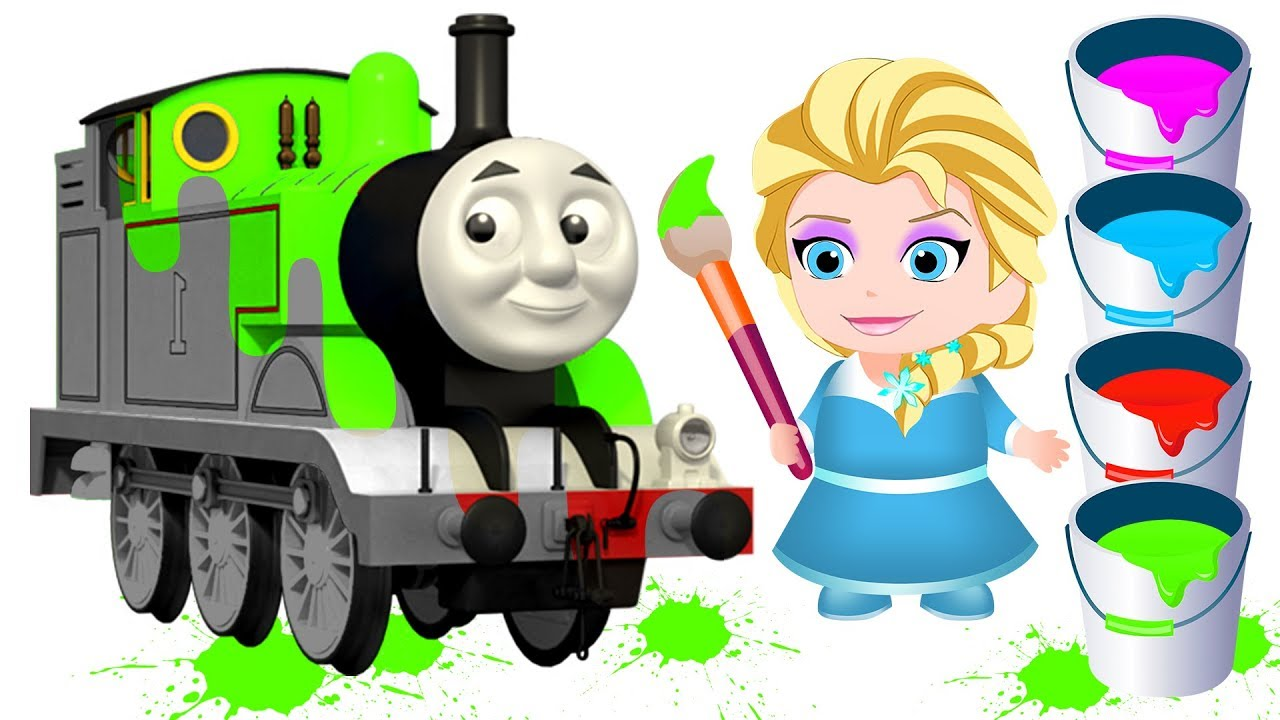 Elsa clipart train. Learn colors with baby