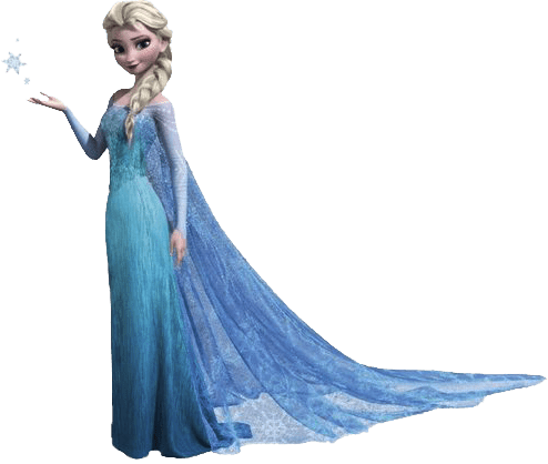 Elsa transparent png. Frozen character no background
