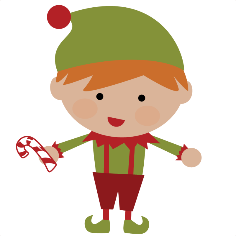 Elves clipart cute. Christmas