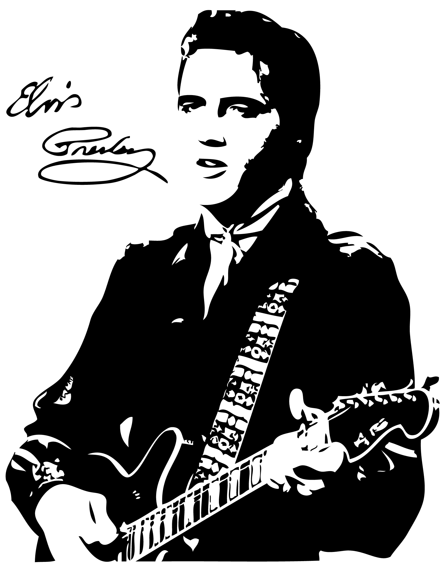 guitar clipart guitar elvis