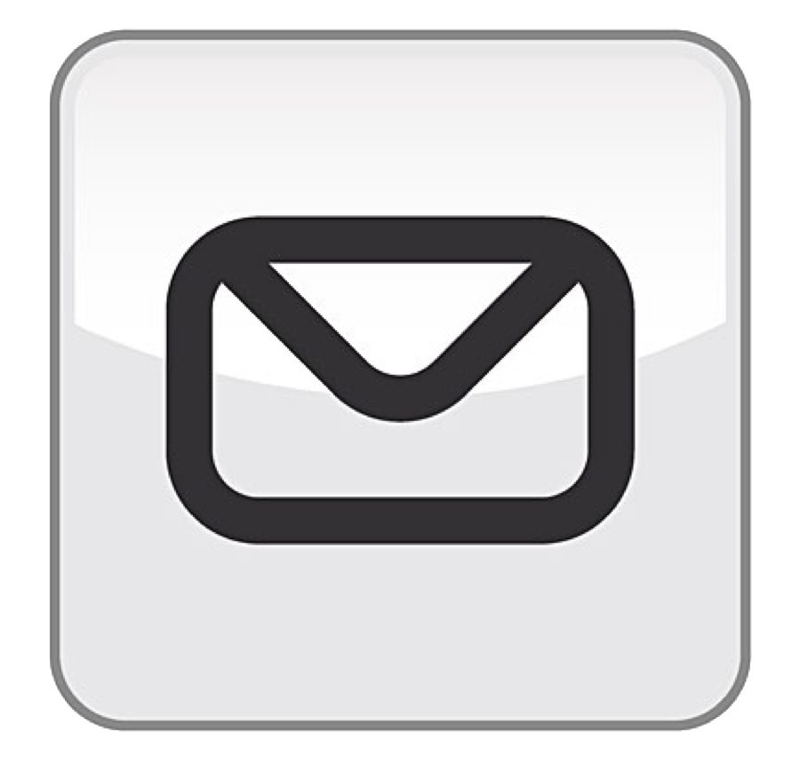 mail drawing icon white