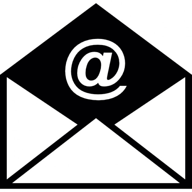 Mail clipart mail symbol. Opened email envelope icons