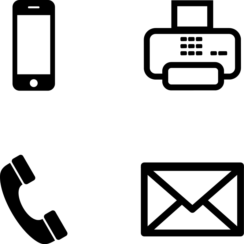 Vector contact fax email. Free icon for download
