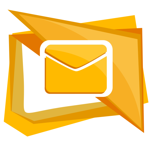 Email clipart yellow envelope. Letter mail message icon