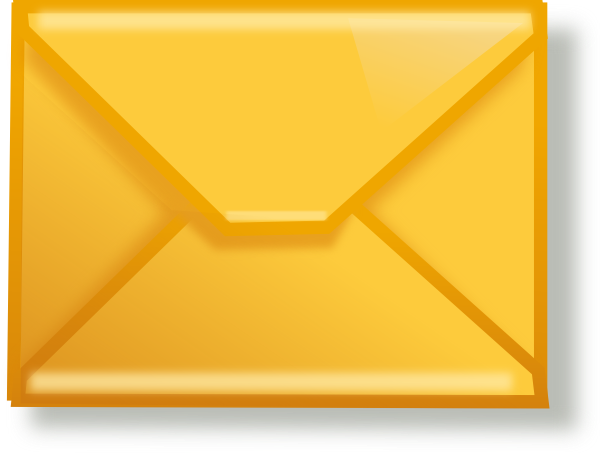 Email clipart yellow envelope. Mail clip art at