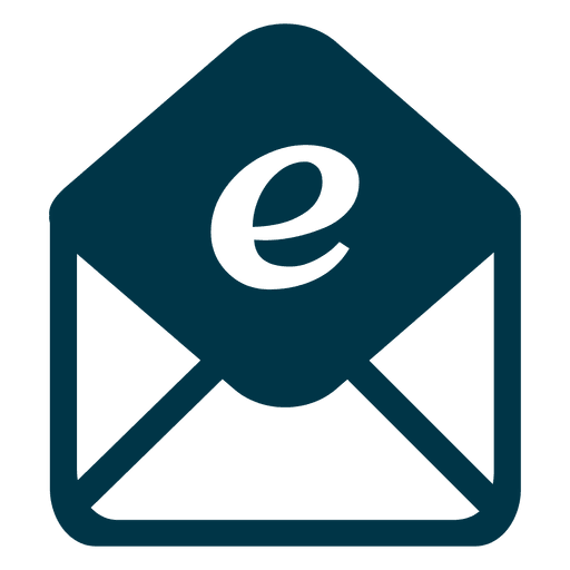 Email logo png. Flat icon transparent svg