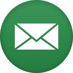 Email icon png green. Circle iconset martz