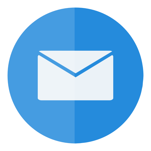 E transparent circle. Icon ring mail email
