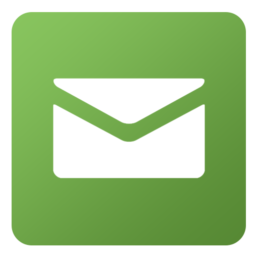 Email icon png green. Flat gradient social iconset