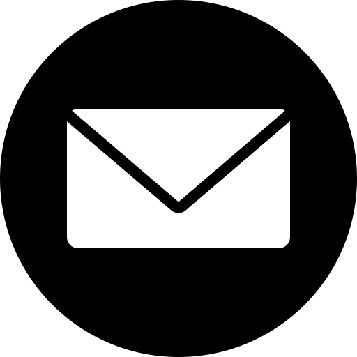 Email logo white png. Circle messages message mail