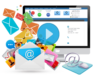 Email marketing png. Digital service auroin video