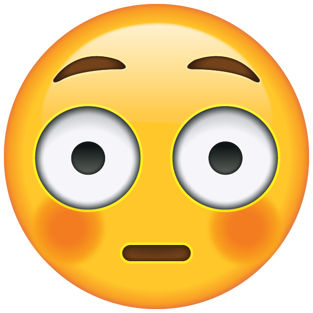 Embarrassed emoji png. Download flushed face icon