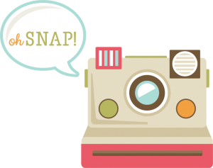 Polaroid clipart camera. Oh snap svg cut