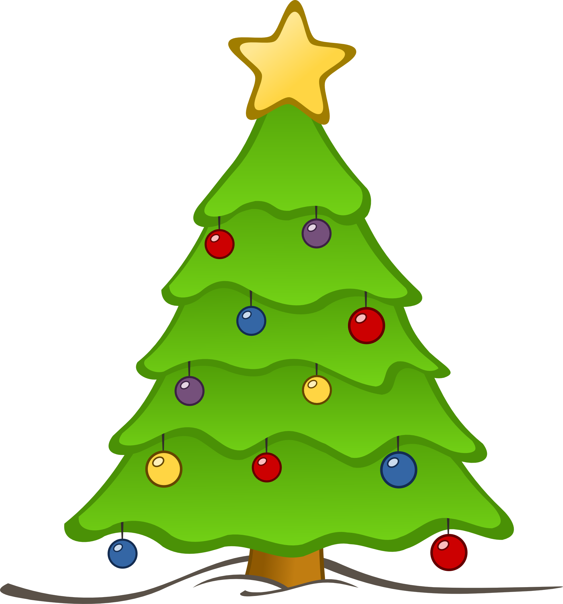 Tree arsenal clipart. Vector embellishment christmas graphic free