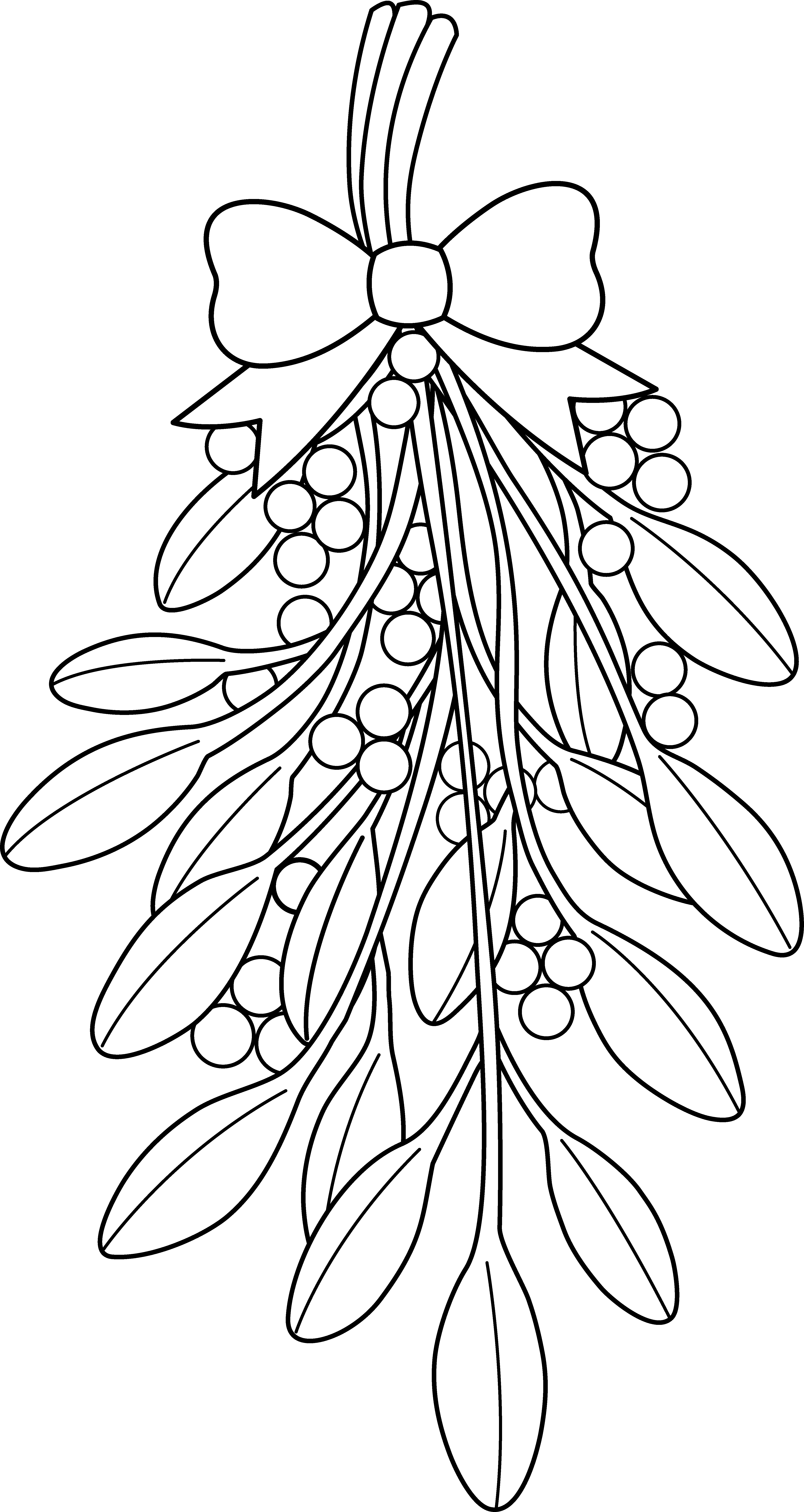 Embroidery drawing black and white. Christmas coloring pages mistletoe