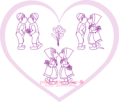 Embroidery drawing love. Donationware is pattern pdf