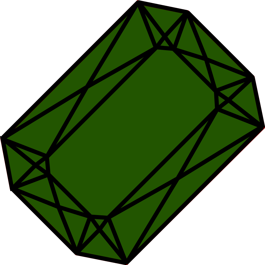 Emerald vector. File wpi svg wikimedia
