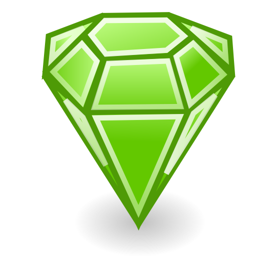 Emerald vector. Collection of free emeraud
