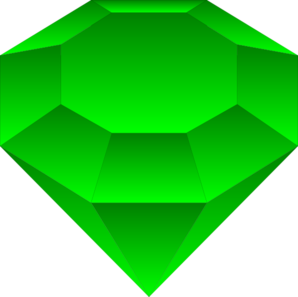 Emerald vector. Emmy a clip art