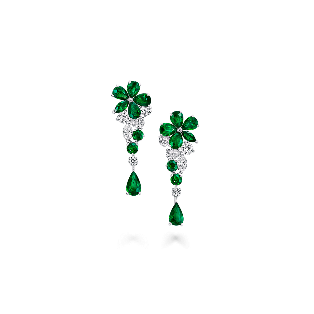Earring transparent vector. Emerald png background image