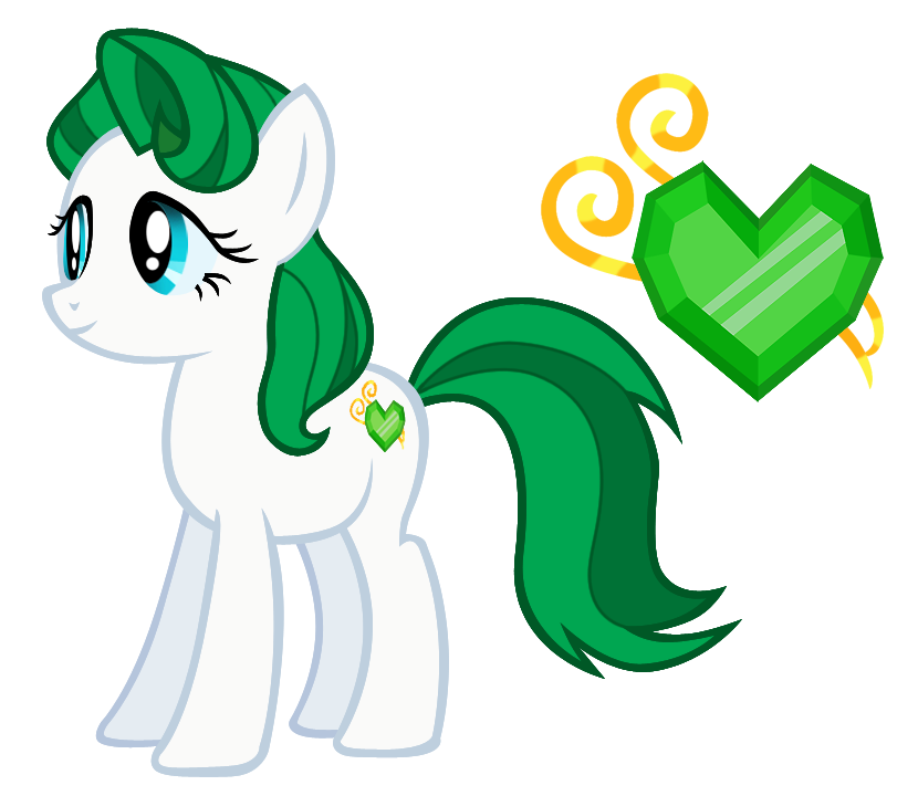 Emerald vector cartoon. Mlp fim oc dream