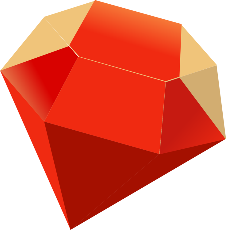 Emerald vector ruby stone. Gemstone computer icons free